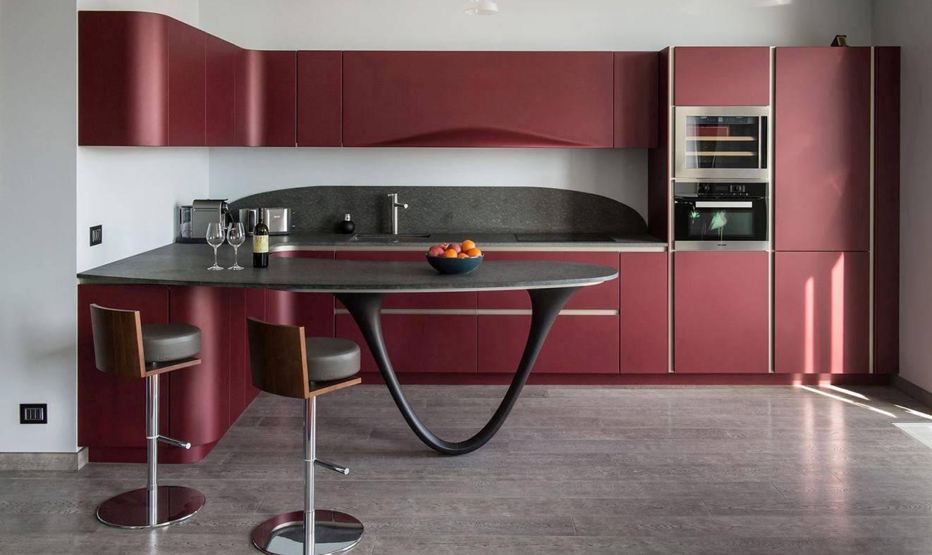 Бордовая кухня: особенности, стили и варианты дизайна