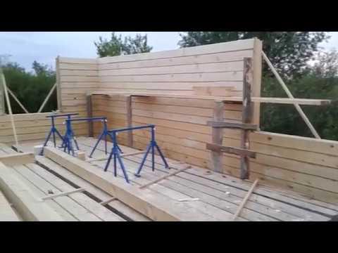 Дом из бруса своими руками: пошаговое строительство, проекты