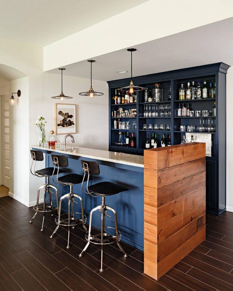 Как сделать мини бар своими руками — лучшие идеи современной барной стойки и дома и дачи (75 фото)
