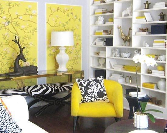 Желтый цвет в интерьере: 75 вариантов сочетаний с другими тонами