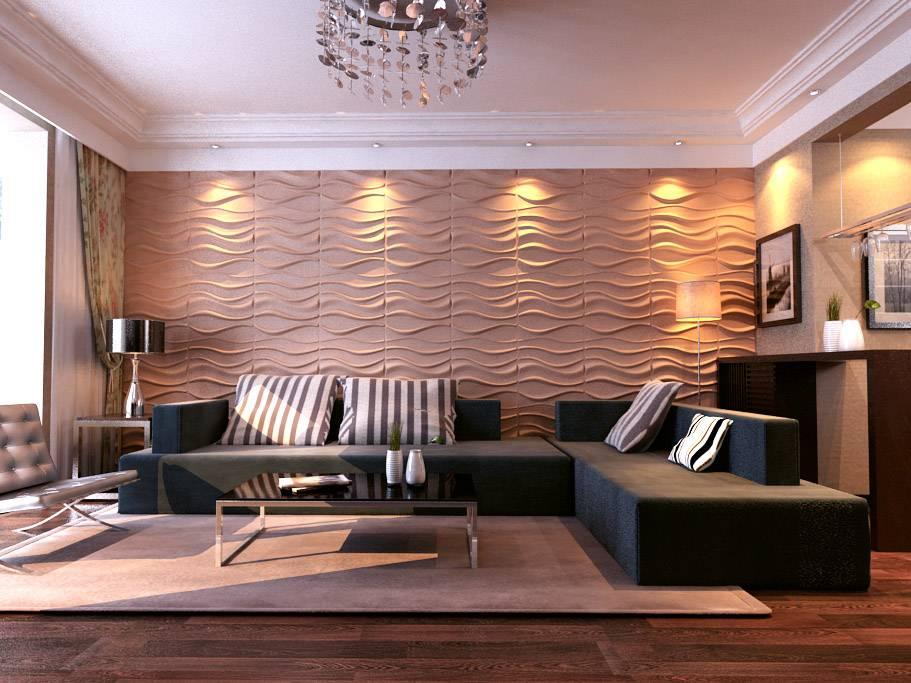 50+ идей 3d панелей для стен в интерьере - happymodern