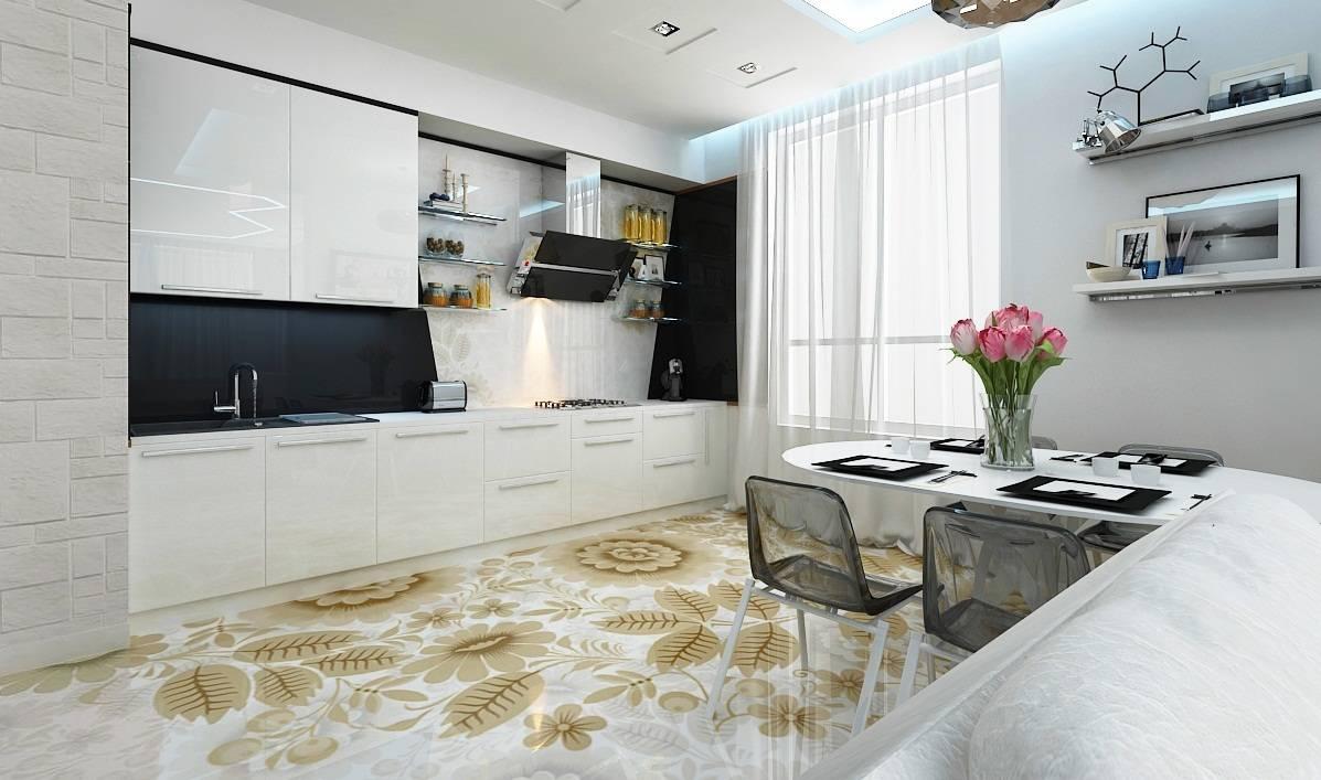 Плитка на кухню на пол - 38 фото с интересным дизайном