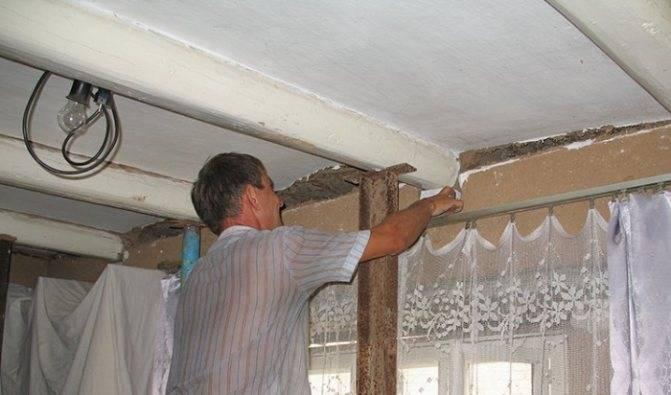 Как поднять потолок в старом деревянном доме? варианты решения проблемы