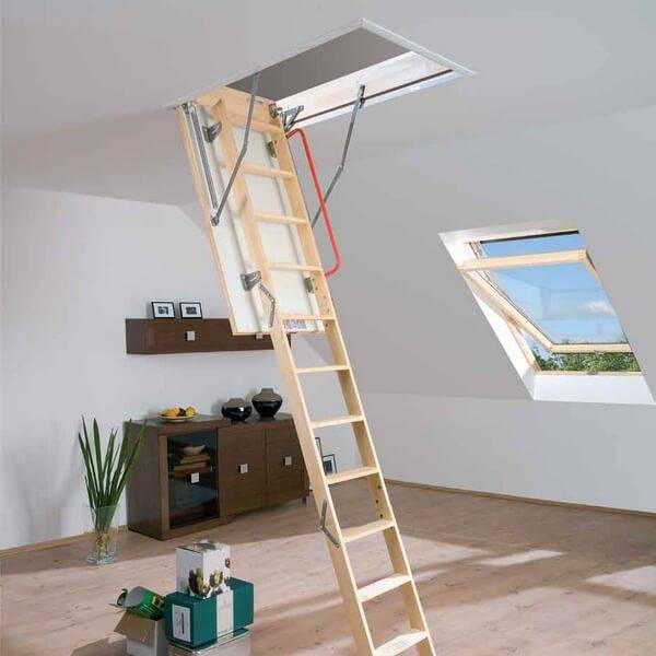 Изготовление чердачной лестницы с люком своими руками