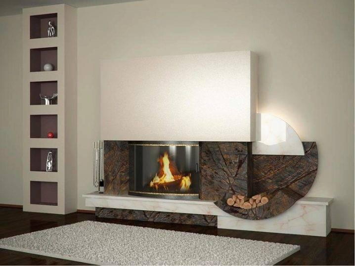 Интерьер гостиной с камином: 59 фото, идеи дизайна