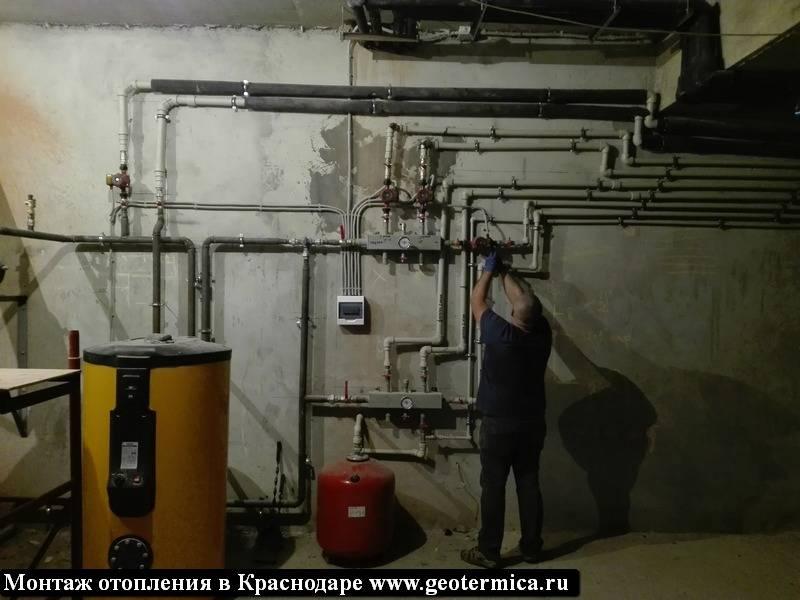 Монтаж газовых котлов отопления, обвязка, схема, разводка, подключение, монтаж