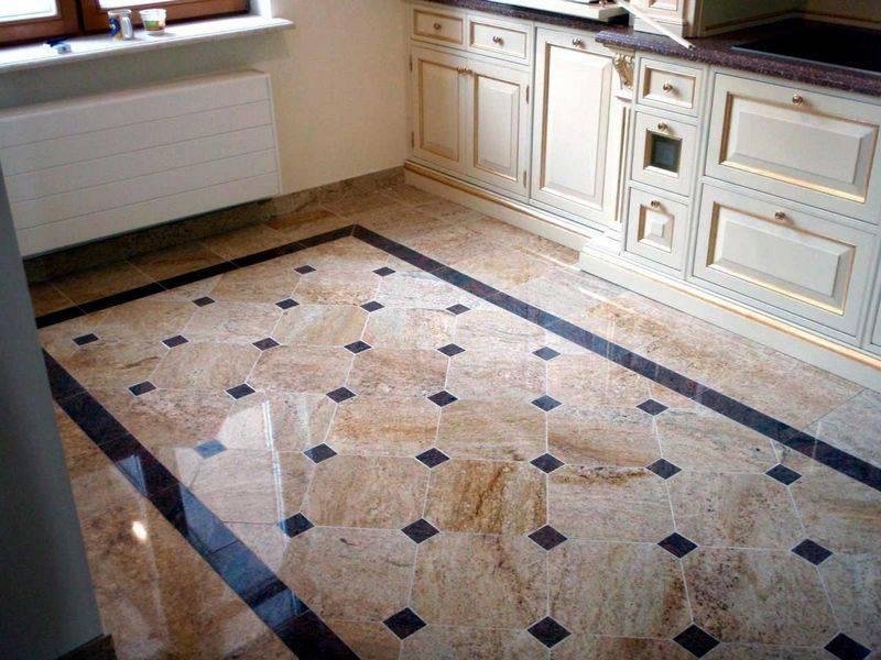 Какую плитку выбрать на кухню на пол и фартук