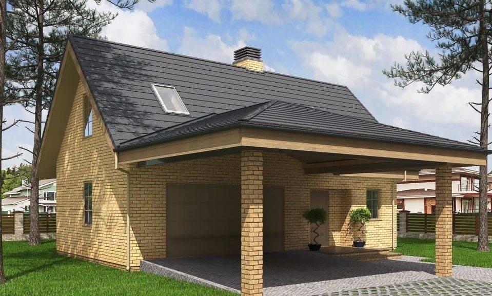 Проект гаража на 2 машины: фото с ценами и планировки с размерами