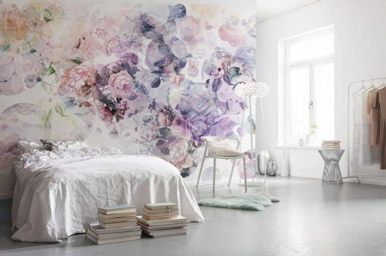 Комбинирование обоев в спальне: 90 фото-идей