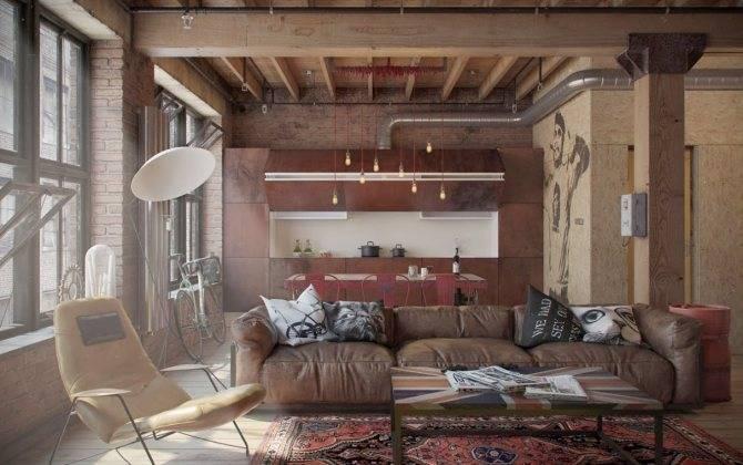 Дизайн балконов и лоджий в стиле лофт