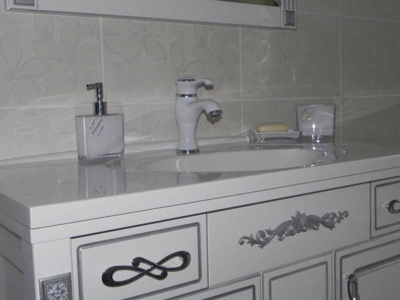 Как смастерить столешницу под раковину для ванной