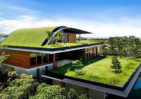 Эксплуатируемая «живая» крыша как основной элемент роскошного эко-дизайна