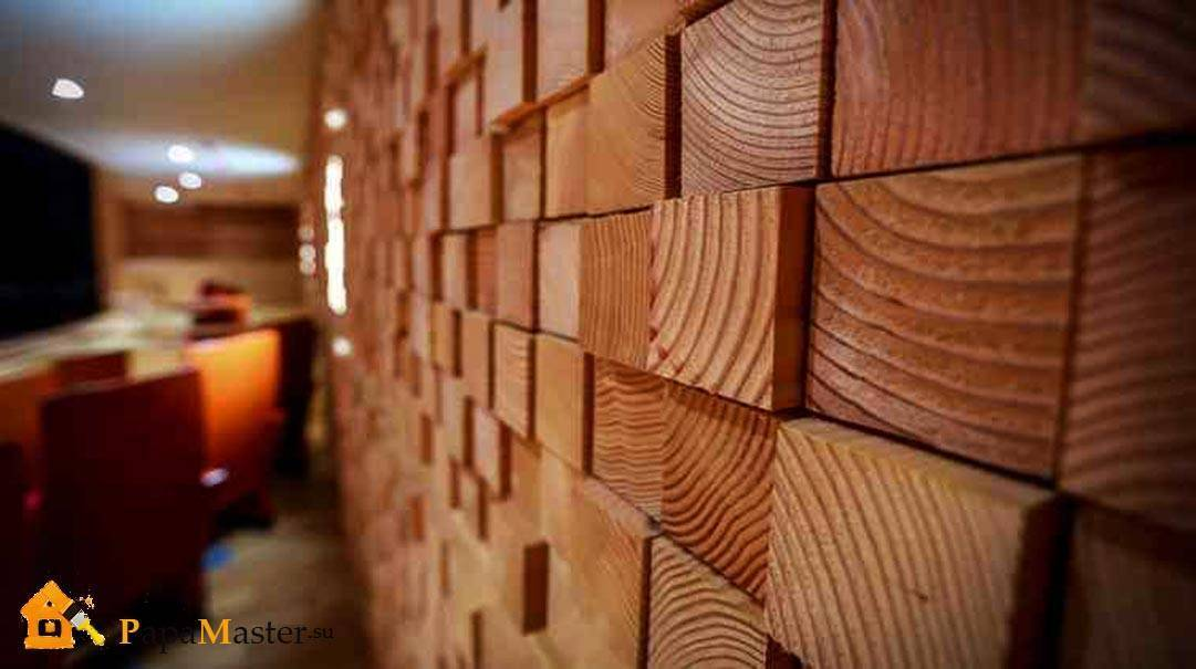 Варианты отделки стен под дерево