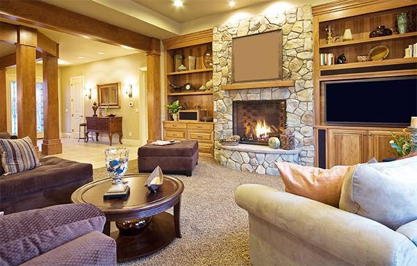 Искусственный камин в интерьере квартиры и дома