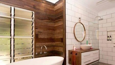 Отделка ванной комнаты деревом: выбор материала, дополнительная обработка и процесс установки