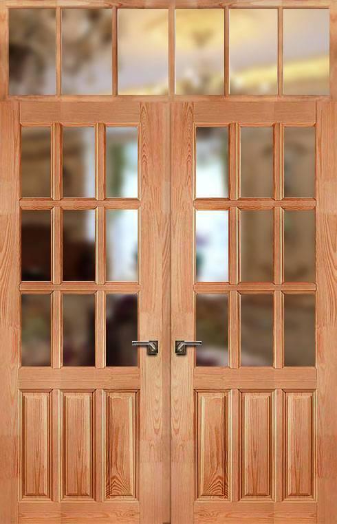 Производство дверей из массива сосны и особенности эксплуатации изделий