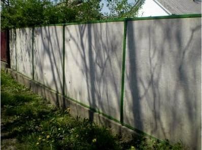 Забор из плоского шифера - всё о воротах и заборе