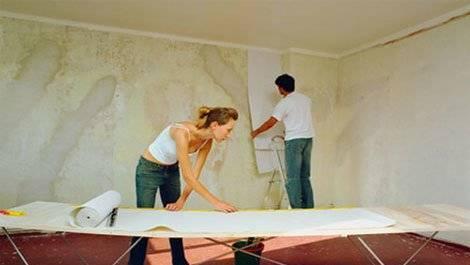Подготовка потолка под обои