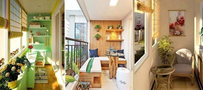 Как обустроить балкон внутри просто и дешево: интересные идеи 2018-