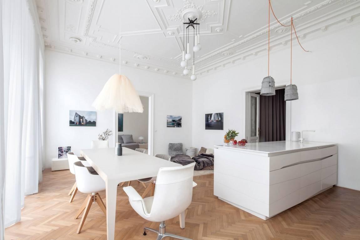 Дизайн квартиры с высокими потолками + фото примеров интерьера
