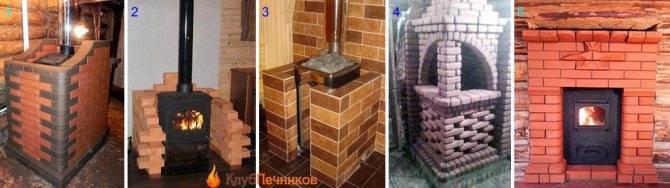 Как обложить кирпичом металлическую печь в бане: выбор материала для облицовки и последовательность действий
