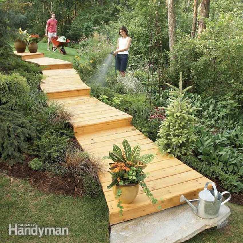 Как сделать садовую дорожку своими руками: материалы и технологии