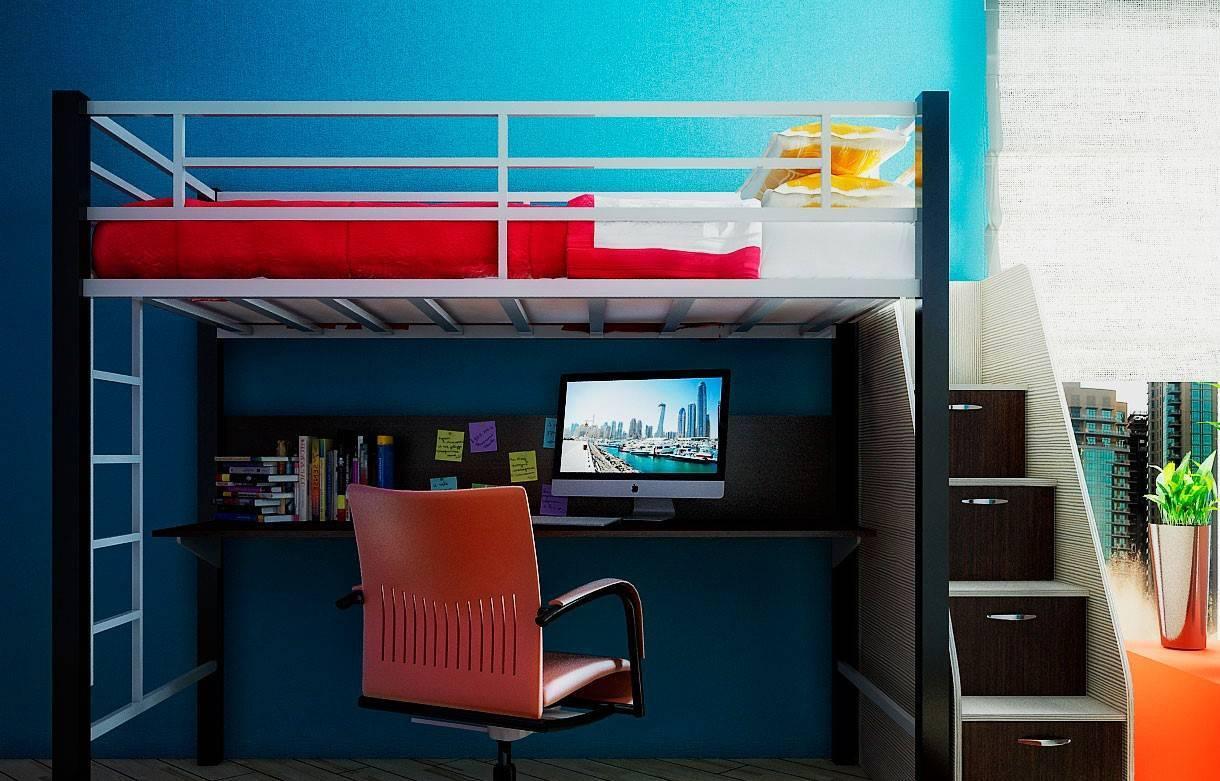 Двуспальная кровать-чердак: особенности изготовления конструкции