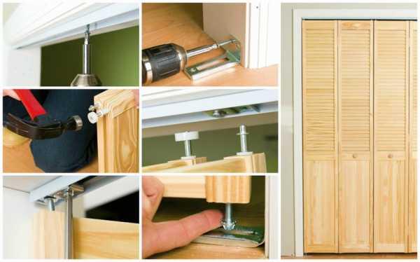 Дверь гармошка своими руками: инструкция по самостоятельной сборке и установке