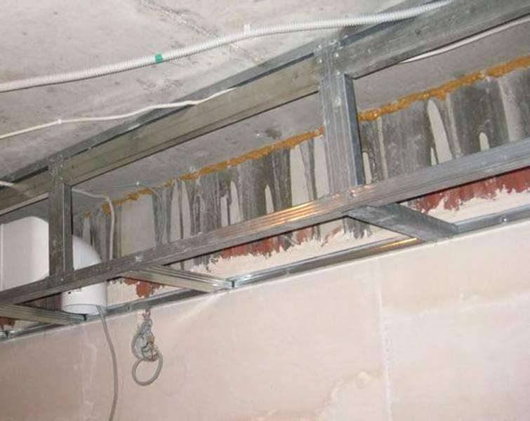Короб из гипсокартона на потолке своими руками