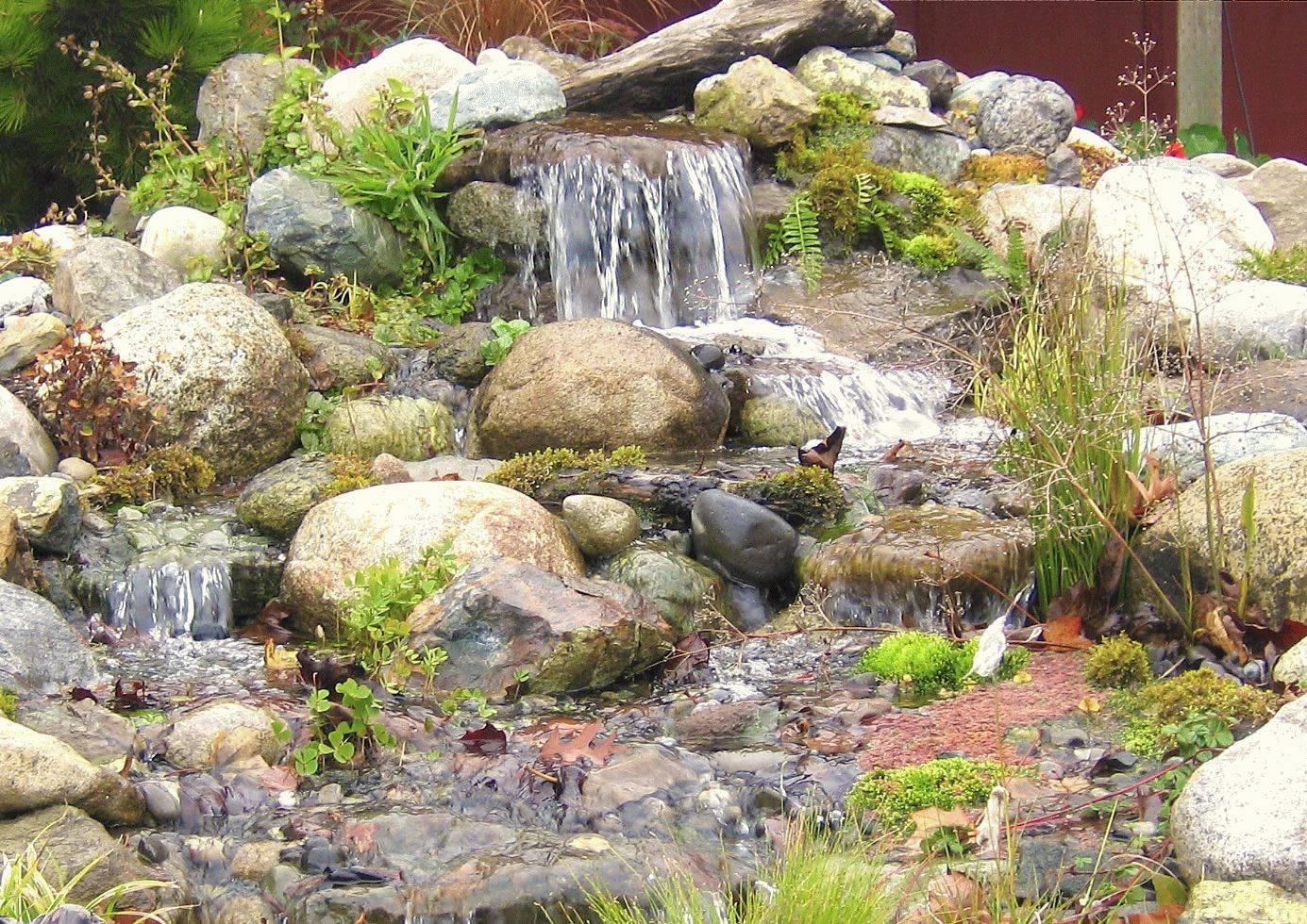 Как соорудить водопад на даче своими руками: идеи благоустройства территории с фото-примерами