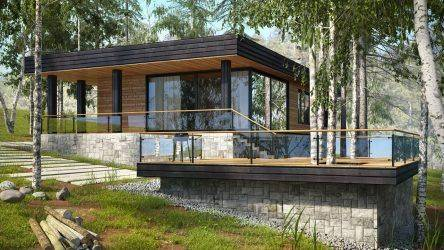Красивые одноэтажные проекты домов с террасой (175 фото). особенности размещения на участке