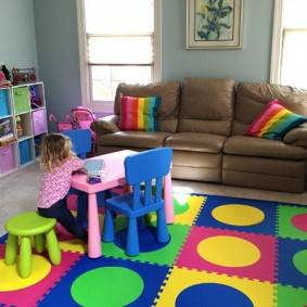 Детский коврик для ползания — плюсы и минусы, идеи, выбор