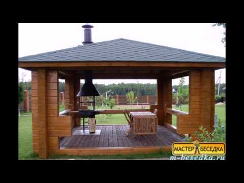 Беседка с односкатной крышей своими руками: пристроенная к дому, даче, чертежи, проект деревянной беседки