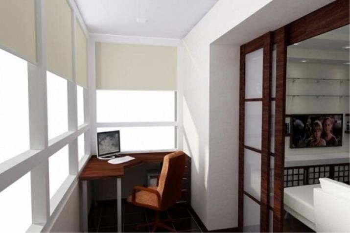 Как сделать из балкона комнату: варианты переделки лоджии в кабинет