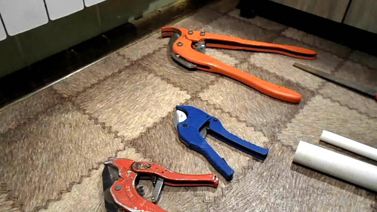 Как выбрать и использовать ножницы для пластиковых труб