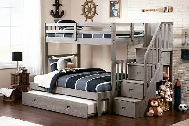 Двухъярусная кровать, особенности, основные размеры и цвета