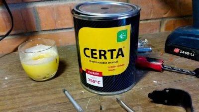 Термостойкая краска по металлу своими руками — излагаем по порядку