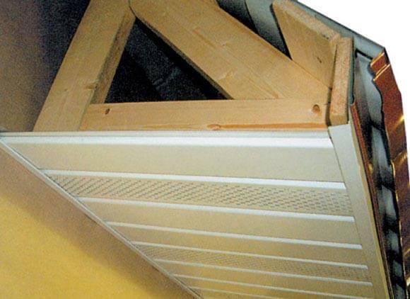 Свес крыши: изготовление и подшивка