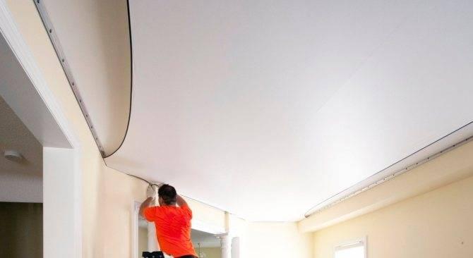 Как крепить натяжной потолок к стене из гипсокартона