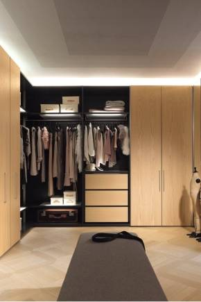 Шкаф гардеробная в спальню: разновидности, наполнение, монтаж