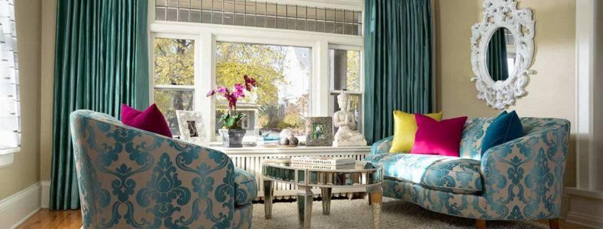 Критерии выбора штор для гостиной по цветам