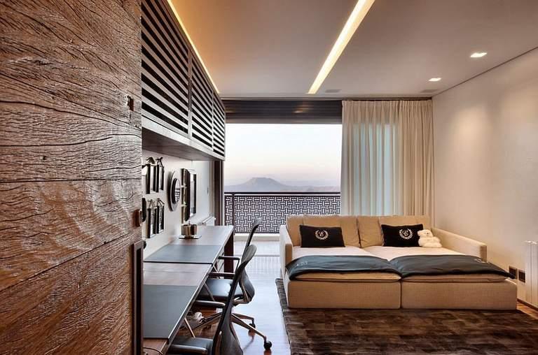 Комбинированные гипсокартонные и натяжные потолки: дизайн, сочетания по цвету, фото в интерьере