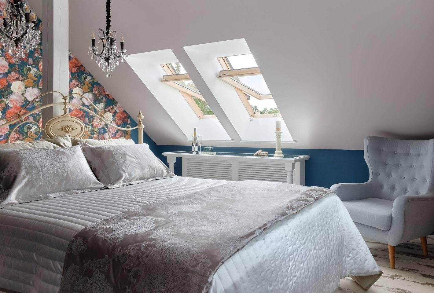 Спальня в мансарде (54 фото): планировка и идеи дизайна интерьера