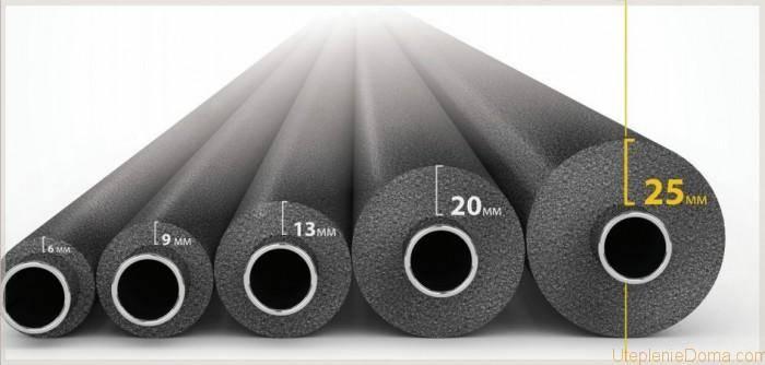 Утеплитель для труб из вспененного полиэтилена: недостатки, монтаж