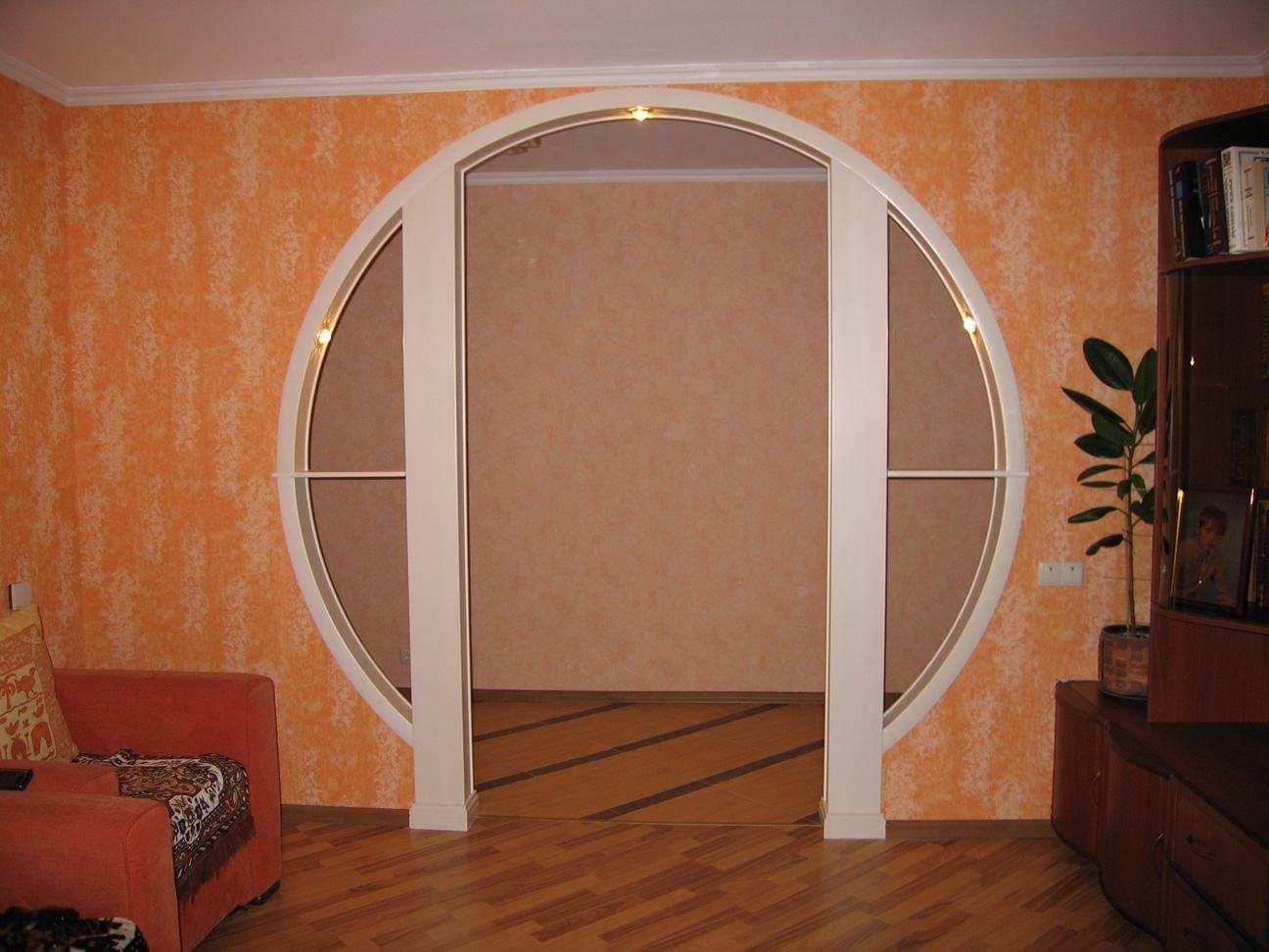 Оформление дверного проема без двери: как красиво оформить межкомнатный проход, фото примеров