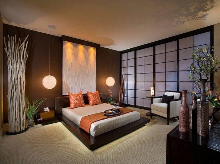Дизайн спальни в японском стиле. фото интерьеров