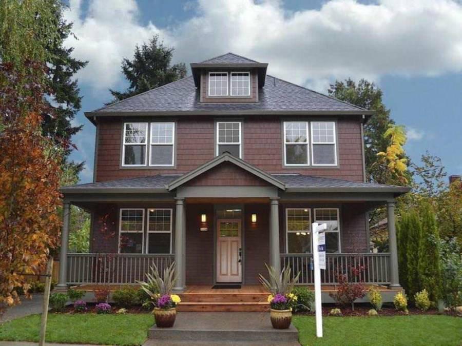 Цвет фасада и крыши, сочетание, виды - фото примеров