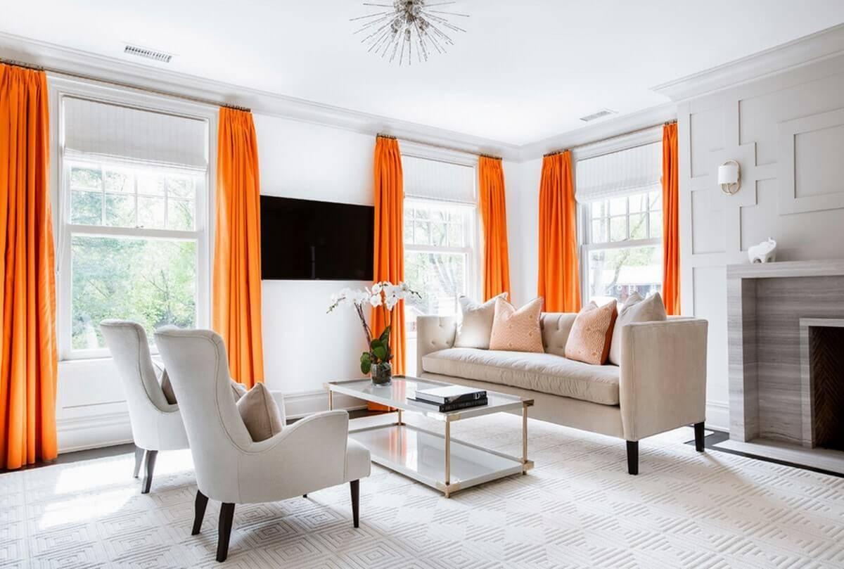 Оранжевый цвет в интерьере: значение, особенности оформления