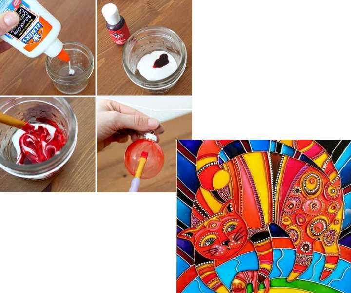 Как самостоятельно сделать витражные краски – обзор проверенных рецептов