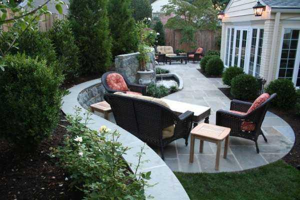Дизайн двора частного дома своими руками (43 фото): как красиво оформить участок в деревне, простой ландшафтный дизайн дворика